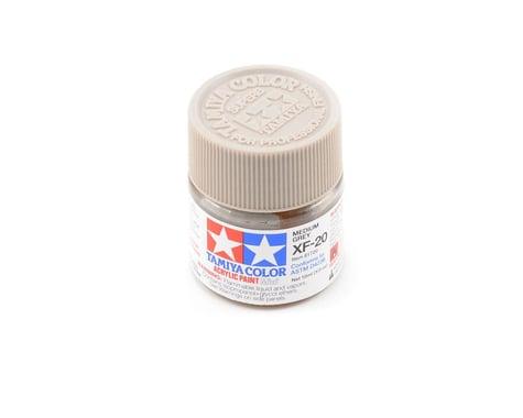 Tamiya Acrylic Mini XF20 Flat Medium Gray Paint (10ml)