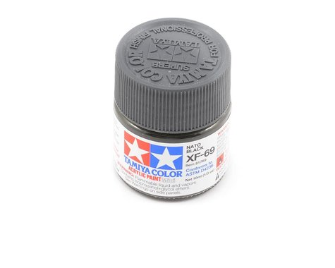 Tamiya Acrylic Mini XF69 Flat Nato Black Paint (10ml)