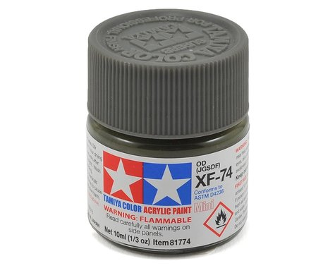 Tamiya Acrylic Mini XF74 Flat Olive Drab Paint (10ml)