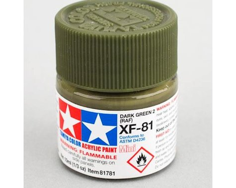 Acrylic Mini XF-81 Dark Green 2 RAF 10ml Bottle