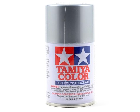 Tamiya PS-48 Semi Gloss Silver Anodized Aluminum Lexan Spray Paint (3oz)