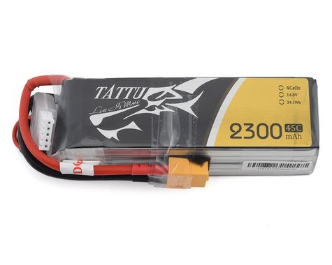 Tattu 4s LiPo Battery 45C (14.8V/2300mAh) w/XT-60