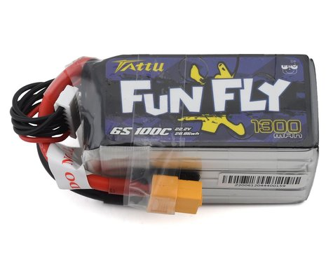 Tattu 6s LiPo Battery 100C w/XT60 Connector (22.2V/1300mAh)