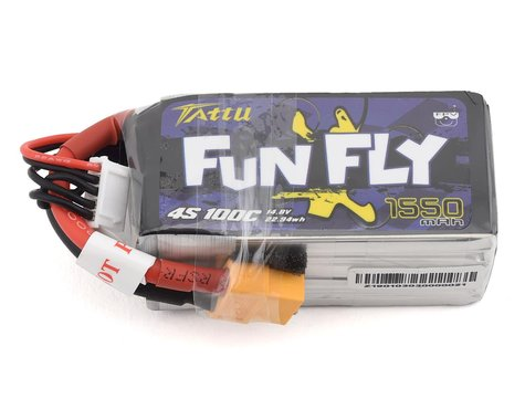 Tattu FunFly 4S LiPo Battery 100C (14.8V/1550mAh) (JST-XH)