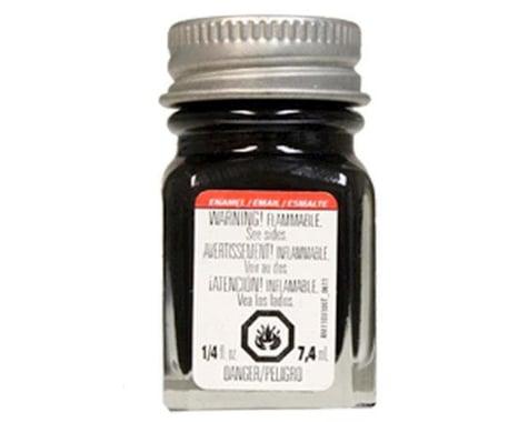 Testors Enamel 1/4oz Semi-Gloss Black