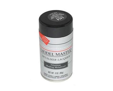 Testors Model Master Titanium Metalizer Lacquer Spray Paint (3oz)