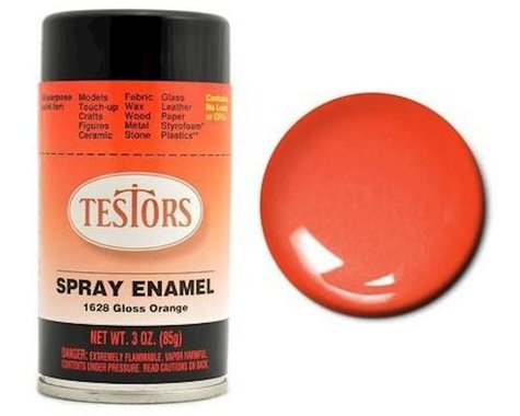 Testors Spray 3 oz Competition Orange