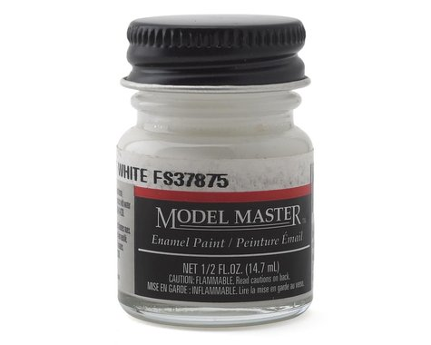 Testors Model Master Flat White (1/2oz) (FS37875)