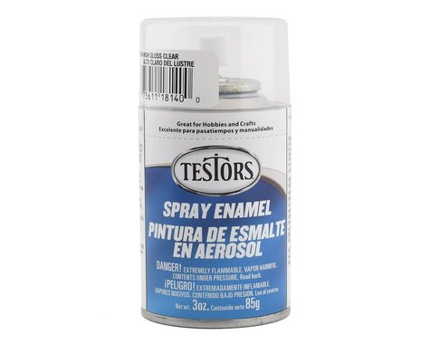 Testors High Gloss Clear Enamel Spray Paint (3oz)