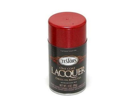 Testors One Coat Lacquer Paint (Revving Red) (3oz)