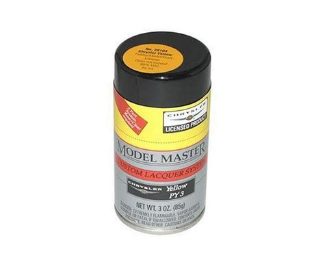 Testors 3oz Lacquer Spray Paint (Chrysler Yellow)