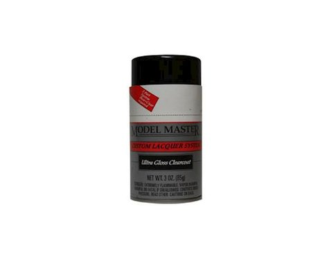 Testors Model Master Ultra Gloss Clearcoat Auto Lacquer Spray Paint (3oz)