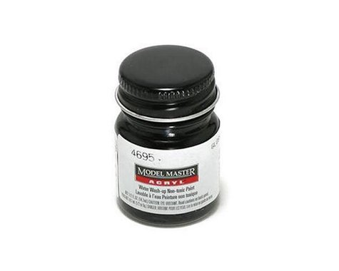 Testors Acryl Gloss 1/2oz Black