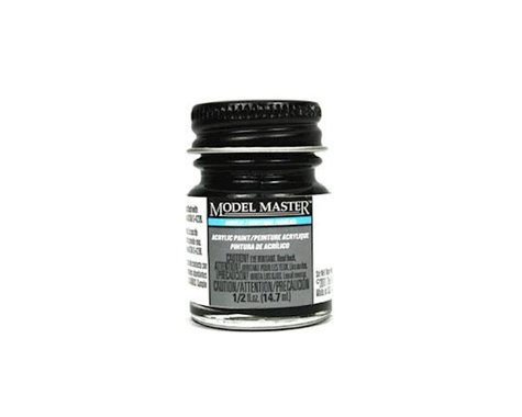 Testors Acryl Semi-Gloss 1/2oz Black