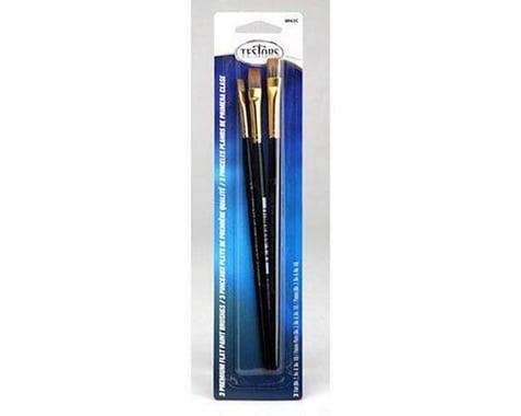 Testors Premium Flat Brushes (3)
