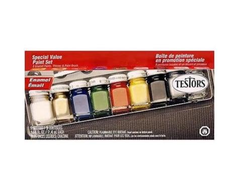 Testors All Purpose Enamel 9-bottle Paint Set for Craft and Hobby