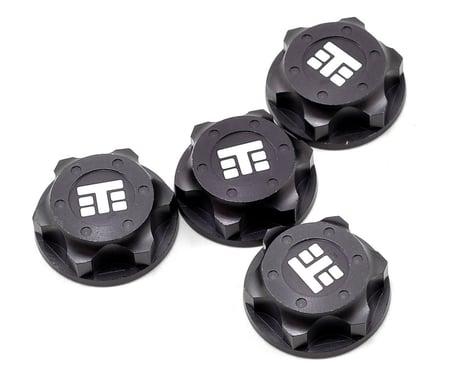 "Tekno RC 17mm Aluminum ""T Logo"" Covered Serrated Wheel Nut (Gun Metal) (4)"