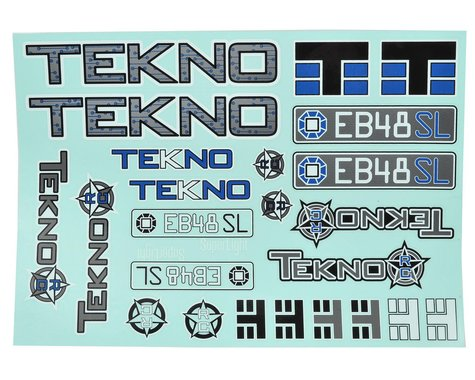 Tekno RC EB48SL Decal Sheet