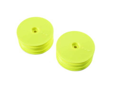 Team Losi Racing 22X-4 12mm Hex 4WD Front Buggy Wheels (2) (Yellow)