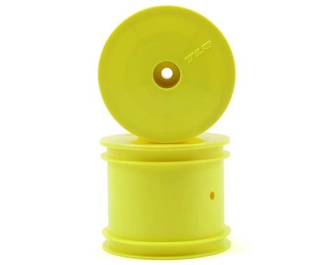 "Team Losi Racing 12mm Hex 2.2"" 1/10 Stadium Truck Wheels (2) (TLR 22T) (Yellow)"