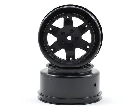Team Losi Racing 12mm Hex Short Course Wheels (Black) (2) (22SCT/TEN-SCTE)