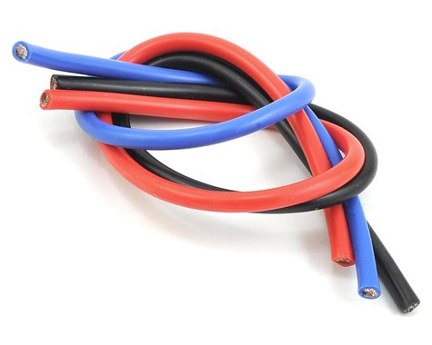 TQ Wire 10AWG Wire 1'  (Black/Red/Blue)