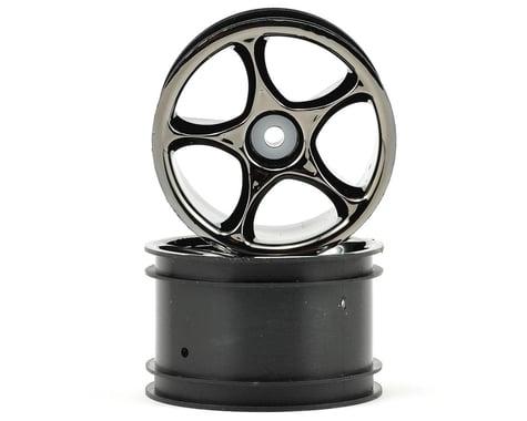 "Traxxas 2.2"" Bandit Rear Tracer Buggy Wheels (2) (Black Chrome) (Pins)"