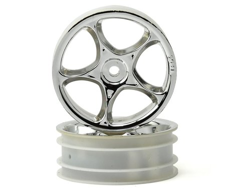 """Traxxas 2.2"""" Bandit Front Tracer Buggy Wheels (2) (Chrome) (Pins)"""