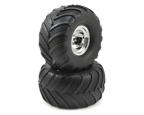 "Traxxas 12mm Hex ""Bigfoot"" Pre-Mounted Tires & Wheels (2) (Rear) (Chrome)"