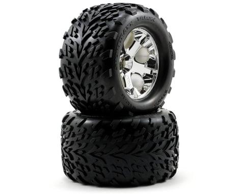 Traxxas Talon Front Tires w/All-Star Wheels (2) (Chrome)