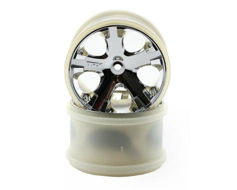 """Traxxas 12mm Hex All-Star 2.8"""" Rear Wheels (2) (Chrome)"""