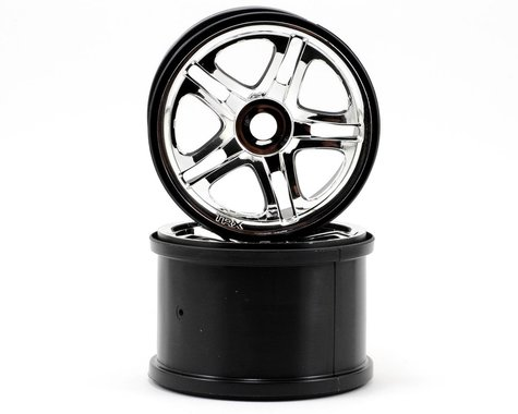Traxxas 3.8 Split Spoke Wheels (2) (Revo 3.3) (Chrome)