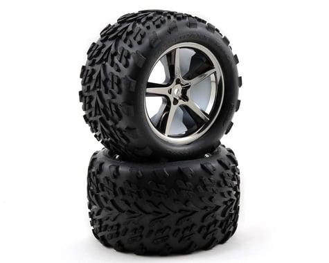 Traxxas Pre-Mounted Talon Tires w/Gemini Wheels (2) (Black Chrome)