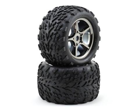 Traxxas Talon Pre-Mounted Tires w/17mm Gemini Wheels (2) (Black Chrome)
