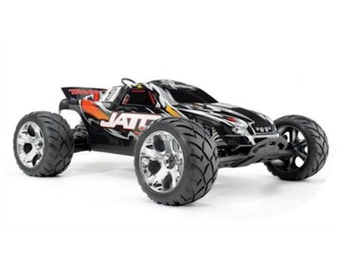 Traxxas Jato 3.3: 1/10 Scale Nitro-Powered 2WD Stadium Truck with TQi 2.4GHz Radio and TSM, Yellow/Red