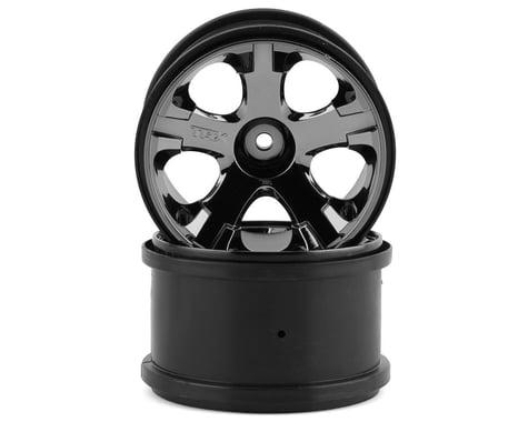 "Traxxas 12mm Hex All-Star 2.8"" Rear Wheels (2) (Jato, Jato 3.3) (Black Chrome)"
