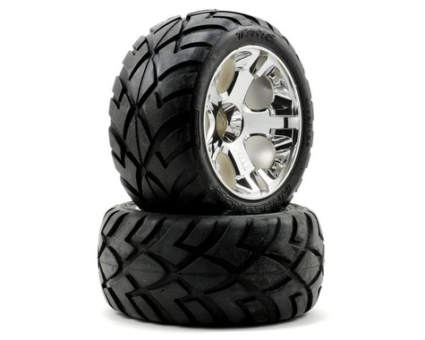 Traxxas Anaconda Tires w/All-Star Front Wheels (2) (Jato) (Chrome) (Standard)