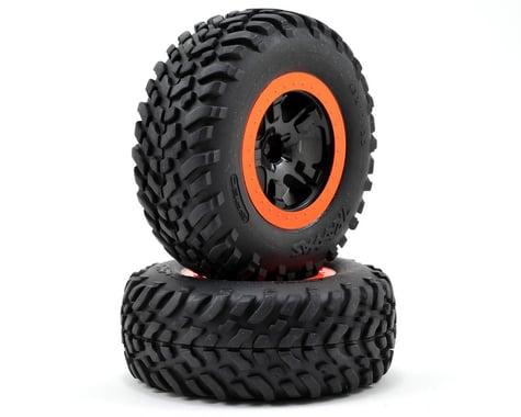 Traxxas Robby Gordon Tire & Wheel (2) (Front) (Orange) (Standard)