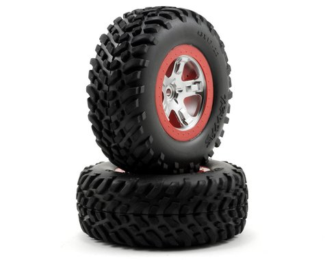 Traxxas 2.2/3.0 Tire w/SCT Rear Wheel (2) (Satin Chrome) (Standard)