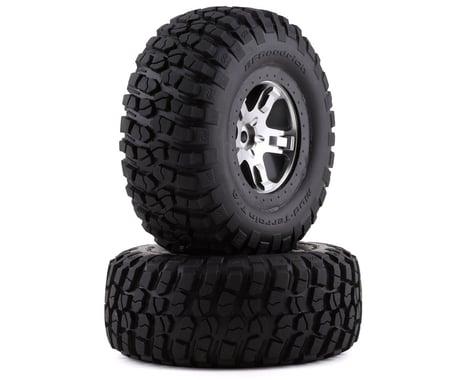 Traxxas BFGoodrich KM2 Tire w/SCT Rear Wheel (2) (Satin Chrome) (Standard)