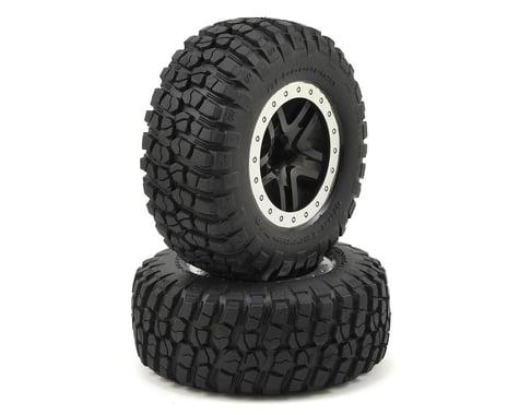 Traxxas Tire/Wheel Assy Glued Split Spoke Black (2) TRA5885