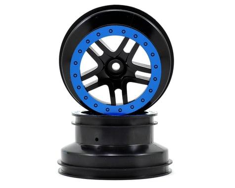 Traxxas Wheels SCT Split-Spoke Black 2WD Front (2) TRA5886A