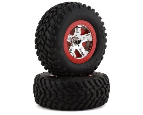 Traxxas Tires/Wheels Assembled Glued SCT Chrome Wheels