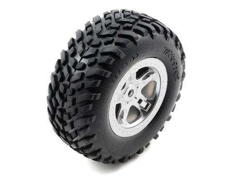 Traxxas SCT Pre-Mounted Tires & Wheels w/Satin Chrome Beadlock (Chrome) (2)