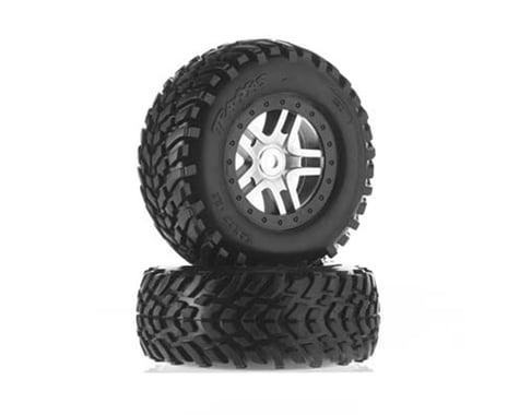 Traxxas Pre-Mounted SCT Tires w/Split Spoke Wheel (Satin Chrome) (S1 Compound)
