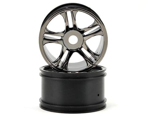 Traxxas Rear Wheels (2) (Black Chrome)