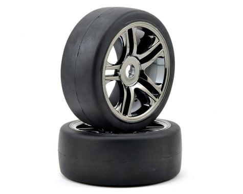 Traxxas Front Tire & Wheel Set (2) (Black Chrome) (S1)