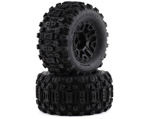 "Traxxas Sledgehammer 2.8"" Pre-Mounted Tires w/12mm Hex (2) (Black)"
