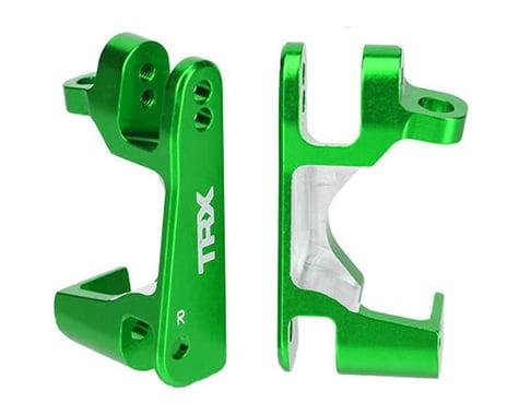 Traxxas Aluminum Caster Block Set (Green) (2)