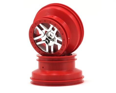 Traxxas Dual Profile Split-Spoke SCT Wheels (Chrome/Red) (2) (Slash Rear)
